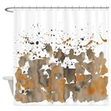 Bronze sepia burst Shower Curtain