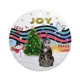 XMusic1 - Tabby Cat (b2) Ornament (Round)