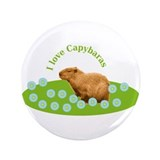 "I love Capybaras 3.5"" Button (100 pack)"