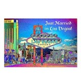 Just Married in Las Vegas Postcards (Pkg of 8)
