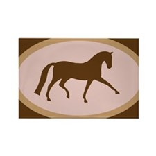 Unique Warmblood horses Rectangle Magnet (10 pack)