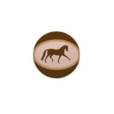 Cute Hanoverian horse Mini Button (10 pack)
