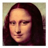 "Mona Lisa Square Car Magnet 3"" x 3"""