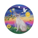 Twilight - Siamese Cat (LilacPt) Ornament (Round)