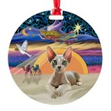 Christmas Angel - Sphynx cat (ld) Ornament