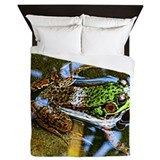 Frogs in a pond Queen Duvet Covers