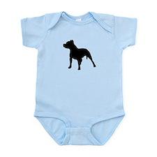 pitbull shadow Infant Bodysuit