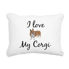 I Love My Corgi Rectangular Canvas Pillow