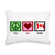 Peace Love Canada Rectangular Canvas Pillow
