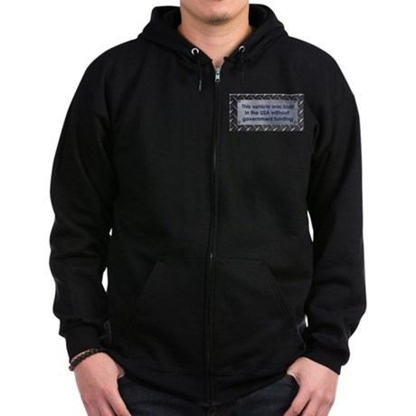 Built in the USA Zip Hoodie (dark)