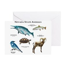 Nevada State Animals Greeting Cards (Pk of 20)