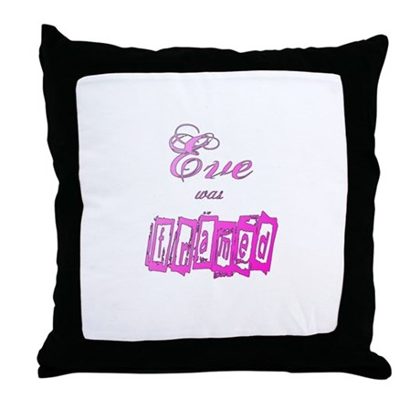 Eve was Framed Throw Pillow