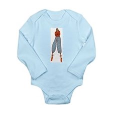 Stilt walkers are above it. Long Sleeve Infant Bod