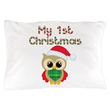 My 1st Christmas owl Pillow Case