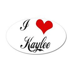 I Love Kaylee 20x12 Oval 20x12 Oval Wall Decal