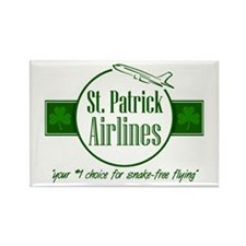 """St. Patrick Airlines"" Rectangle Magnet (10 pack)"