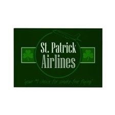 """St. Patrick Airlines"" Rectangle Magnet"