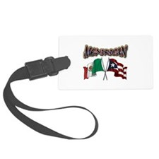 MexiRican Flags centered Luggage Tag