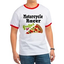 Motorcycle Racer Funny Pizza T