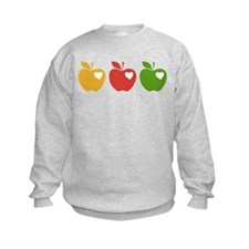 Apple Hearts Love to Teach Sweatshirt