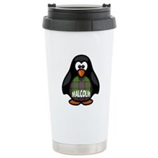 Malcolm Tartan Penguin Ceramic Travel Mug
