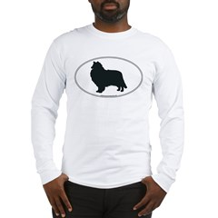 Collie Silhouette Long Sleeve T-Shirt