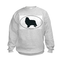 Collie Silhouette Kids Sweatshirt