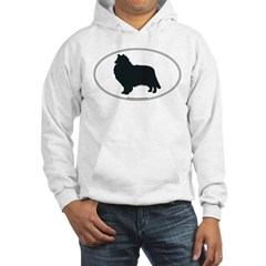 Collie Silhouette Hooded Sweatshirt