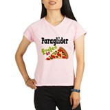Paraglider Fueled By Pizza Performance Dry T-Shirt