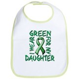 I Wear Green for my Daughter.png Bib