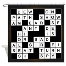 Crossword Puzzle Shower Curtain