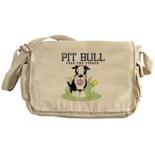 Pit Bull Fear the Tongue Messenger Bag