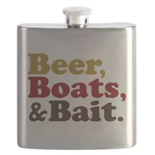 Beer Boats and Bait Fishing Flask