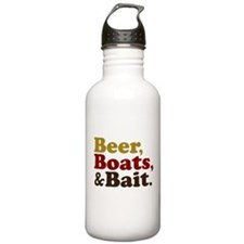 Beer Boats and Bait Fishing Water Bottle