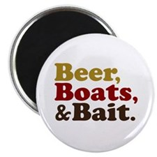 Beer Boats and Bait Fishing Magnet