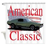 mustang fstbck Shower Curtain