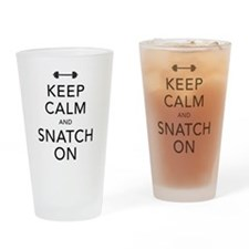 Keep Calm and Snatch On Black Drinking Glass