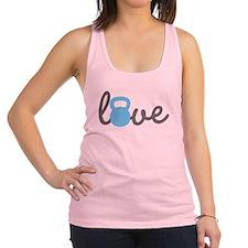 Love Kettlebell Blue Racerback Tank Top