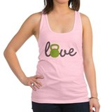 Love Kettlebell Green Racerback Tank Top