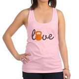 Love Kettlebell in Orange Racerback Tank Top