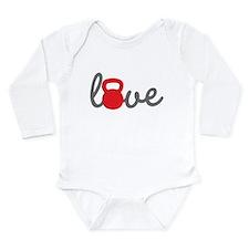 Love Kettlebell in Red Long Sleeve Infant Bodysuit