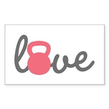 Love Kettlebell in Pink Decal