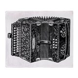 Vintage Accordion Throw Blanket