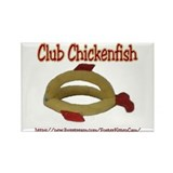 Club Chickenfish Rectangle Magnet
