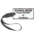 TechWriterPlate.png Large Luggage Tag