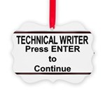 TechWriterPlate.png Picture Ornament