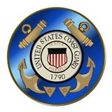 U.S. Coast Guard Cutter Round Car Magnet