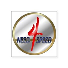 """Ornneed4speed.png Square Sticker 3"""" x 3"""""""