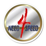 Ornneed4speed.png Round Car Magnet