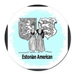 Estonia4.jpg Round Car Magnet